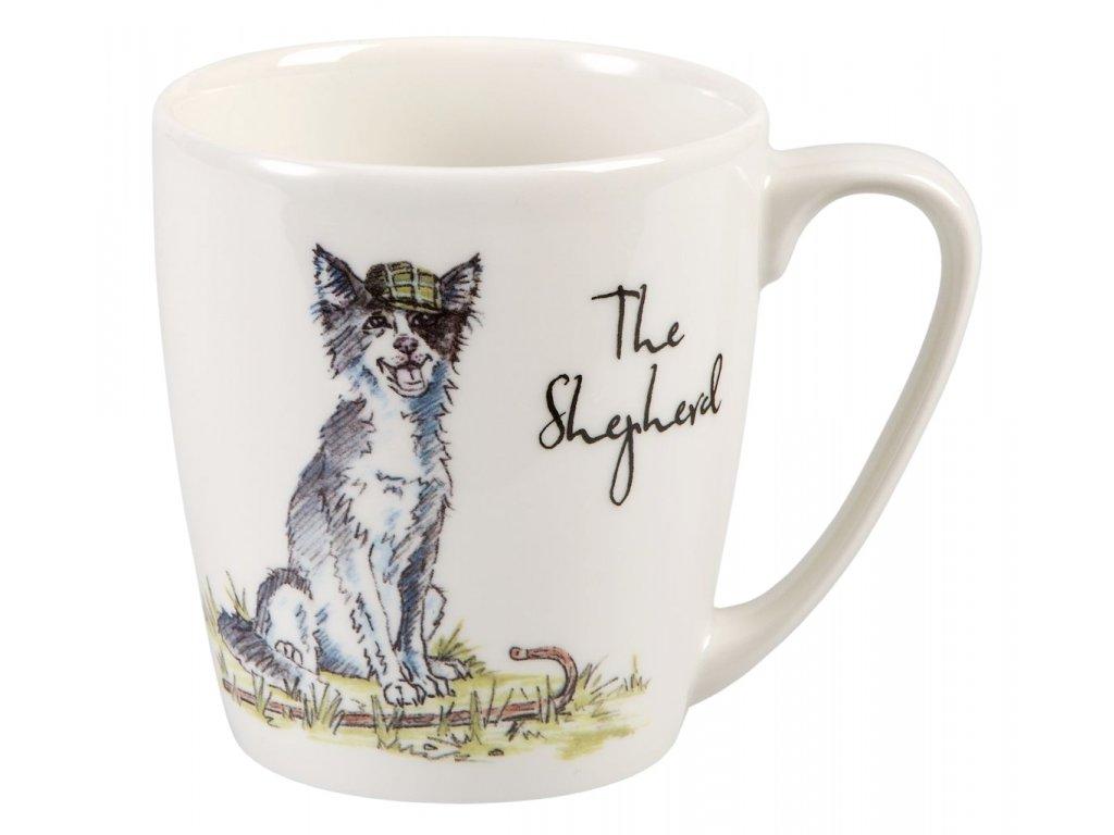 The Shepherd - Fine China, porcelánový hrnek 0,3 l, pes ovčák