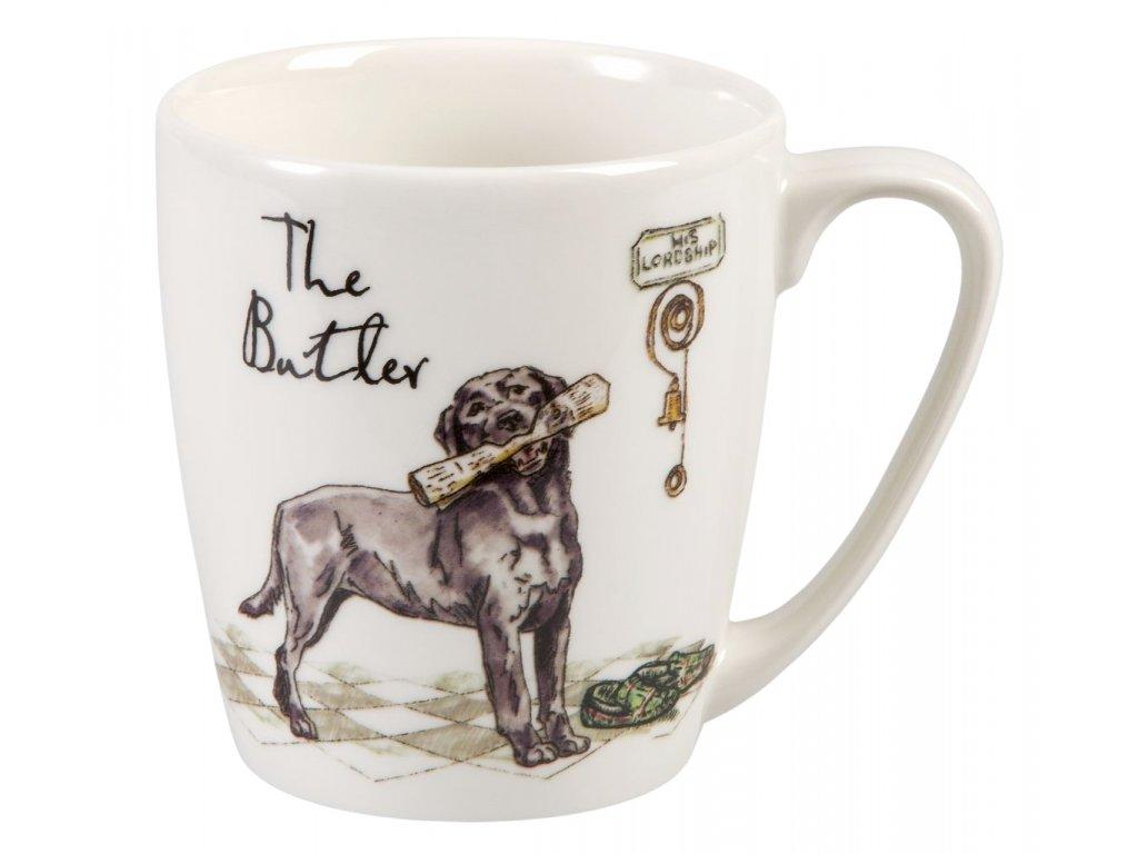 The Butler - Fine China, porcelánový hrnek 0,3 l, pes komorník