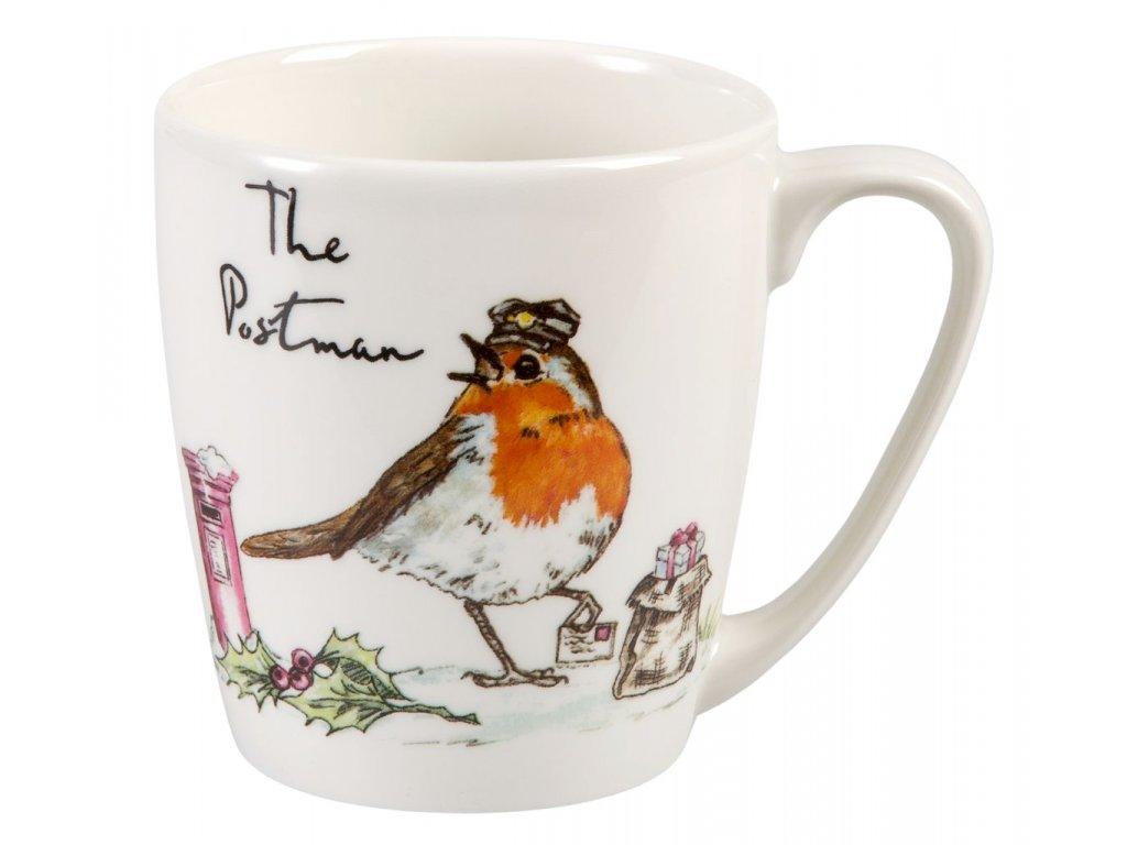 The Postman - Fine China, porcelánový hrnek 0,3 l, pták pošťák