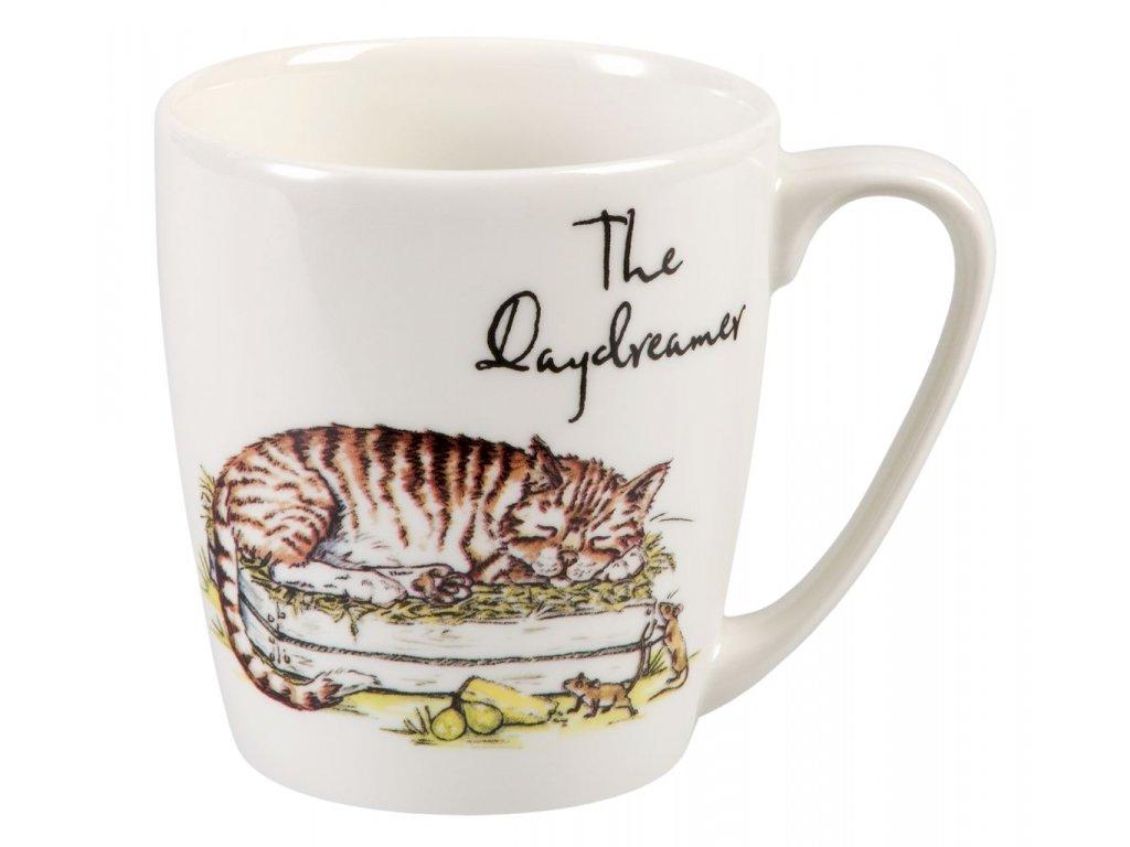 The Daydreamer - Fine China, porcelánový hrnek 0,3 l, zasněná kočka