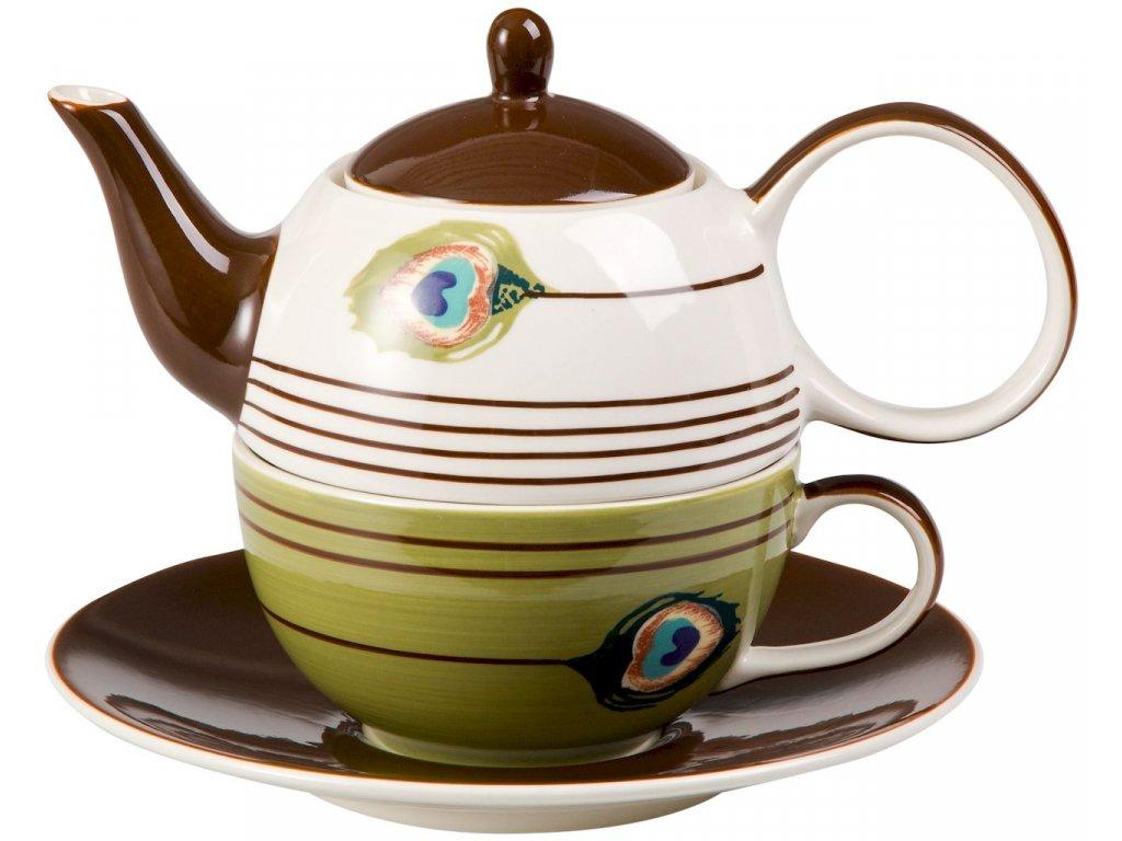 Pfauenauge - keramická čajová souprava 0,2 l/0,4 l, tea for one, paví oka