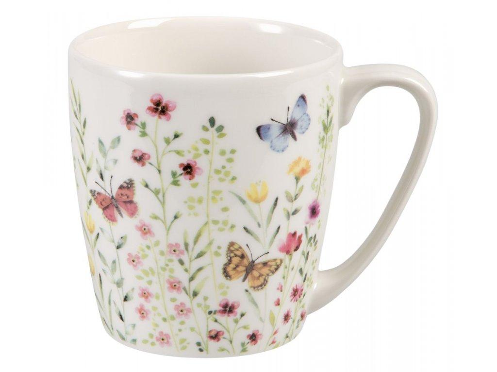 Butterfly Watch - porcelánový hrnek 0,3 l, Aqurelle, motýl, louka