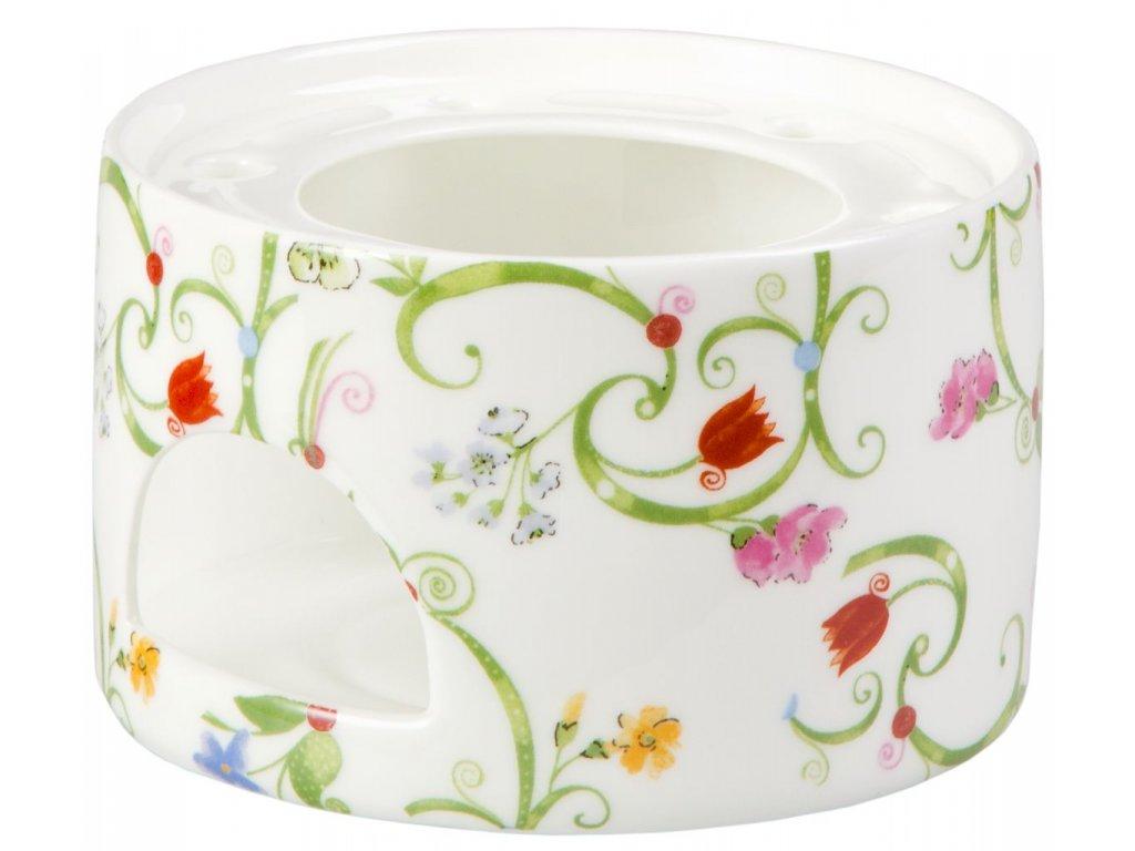 Fleurette - Fine Bone China porcelánový ohřívák na čajovou konvici, květiny