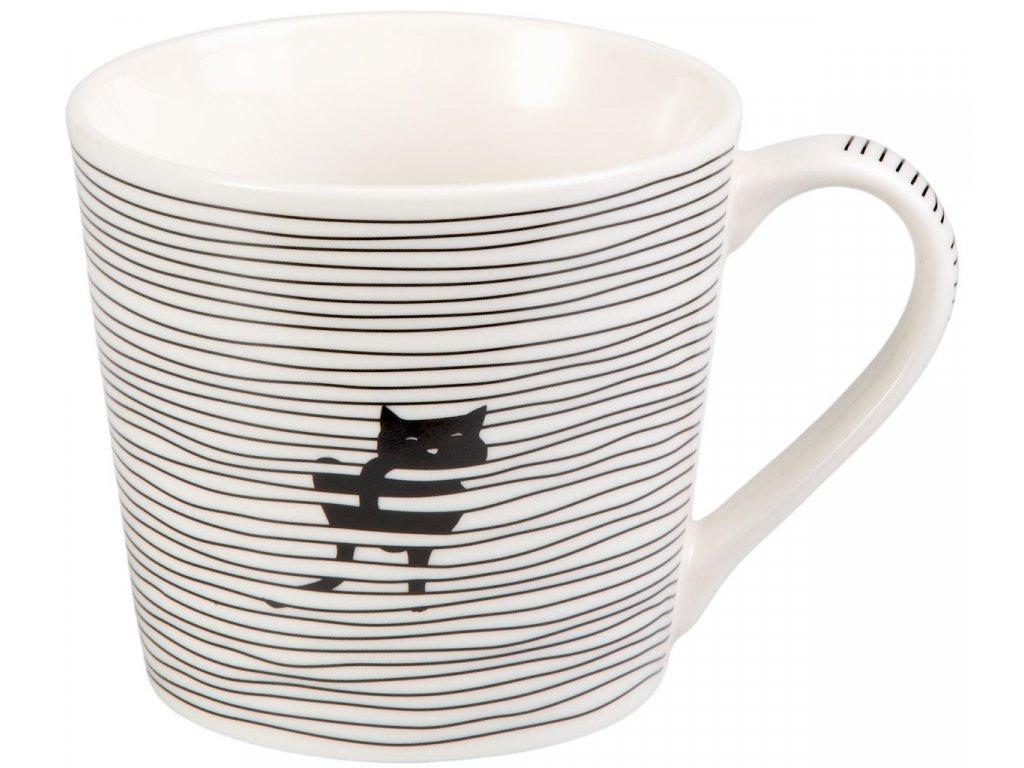 Malika - porcelánový hrnek 0,35 l, černá kočka