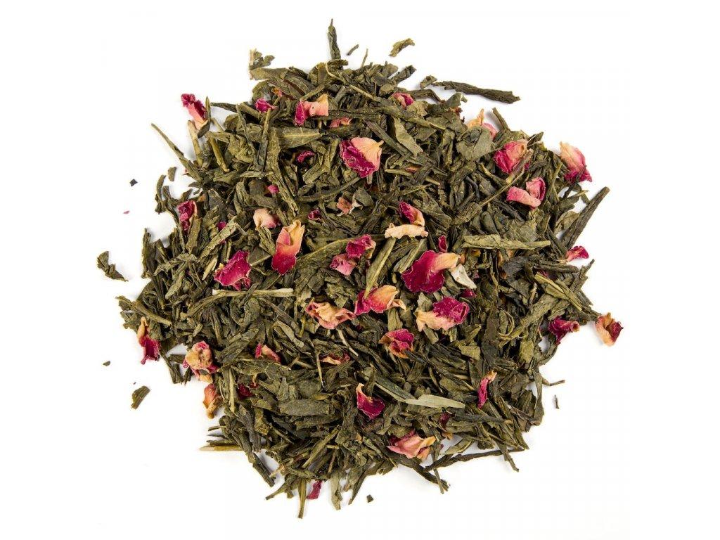 Třešňový květ - aromatizovaný sypaný zelený čaj 80 g