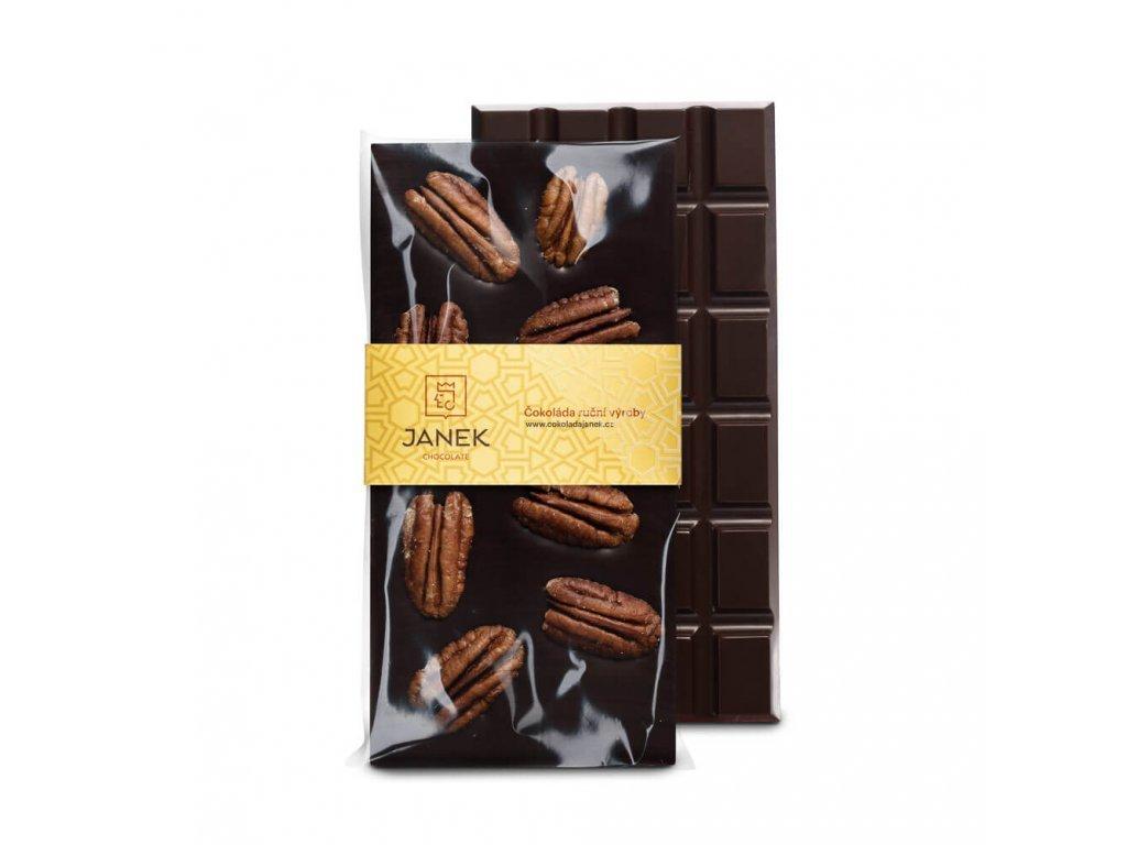 209 tabulka horke cokolady 64 procent s pekanovymi orechy cokoladovna janek jpg