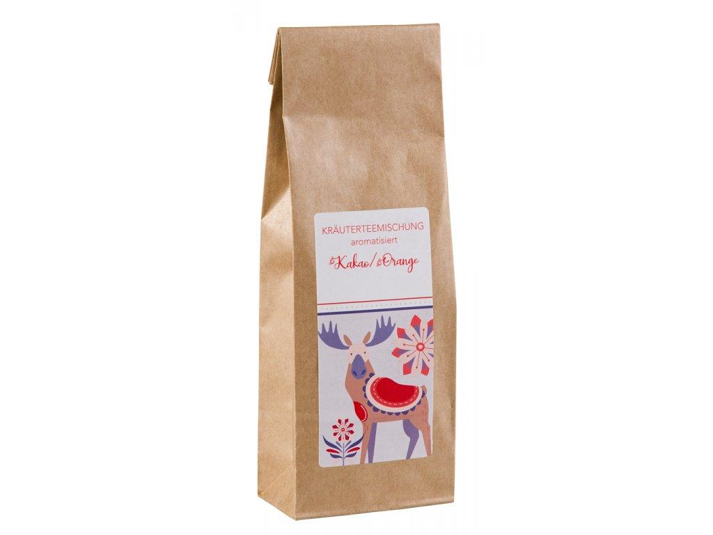 Kakao s pomerančem - bylinný sypaný aromatizovaný vánoční čaj 100 g