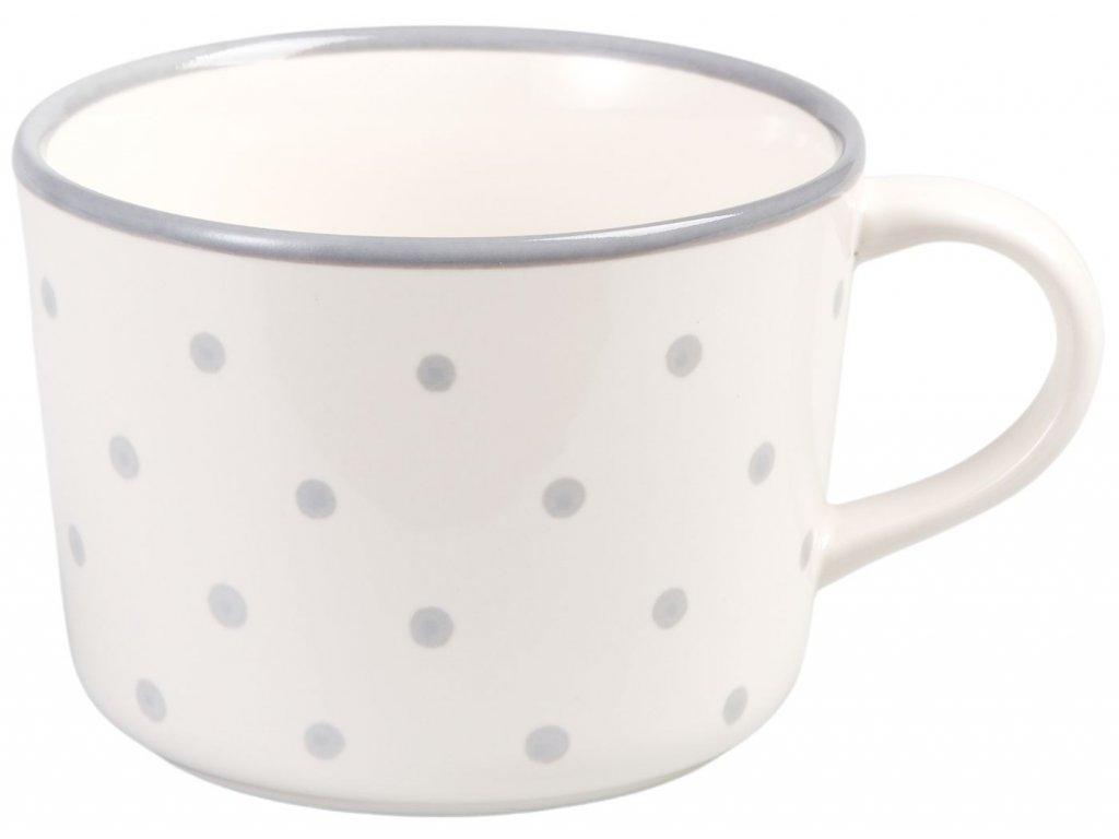 Katie - keramický hrnek 0,3 l, puntík, bílý