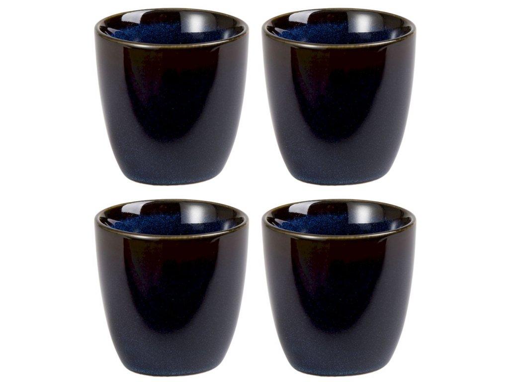 Aimi - porcelánové hrnky bez ouška, 4 ks, 0,13 l, modré