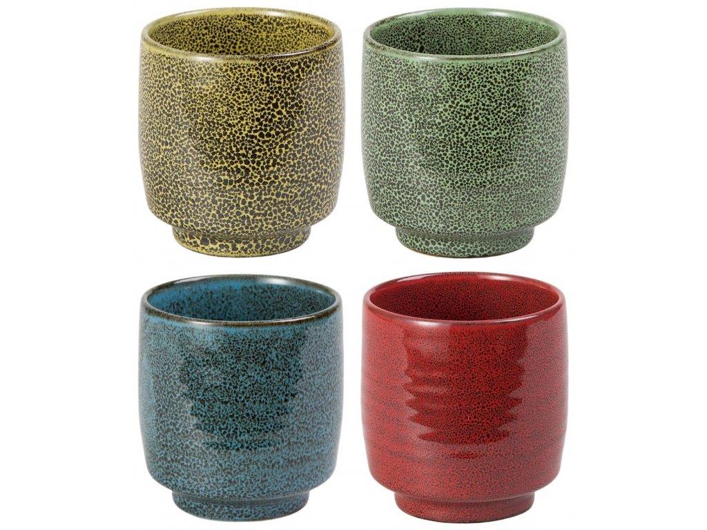 Ayano - porcelánové hrnky bez ouška, 4 ks, 0,15 l