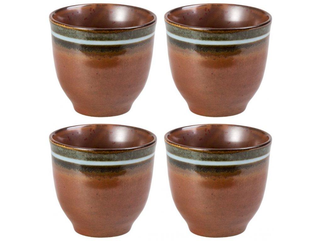 Akane - porcelánové hrnky bez ouška, 4 ks, 0,13 l