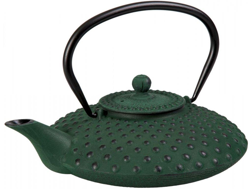 Taka - litinová čajová konvice se sítkem 0,8 l, zelená