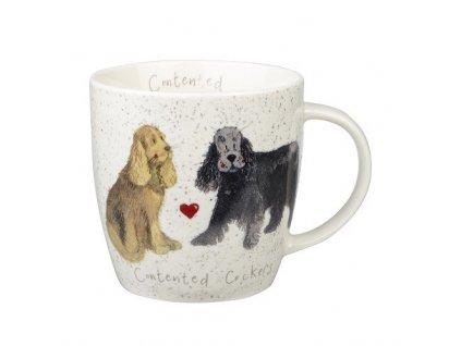 Kokršpaněl, Cockers - porcelánový hrnek s motivem psa, Alex Clark, 400 ml