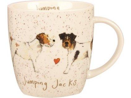Jack Russell teriér - porcelánový hrnek s motivem psa, Alex Clark, 400 ml