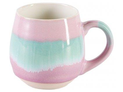 Gracie - Lou -  keramický hrnek 0,48 l, zelený, růžový
