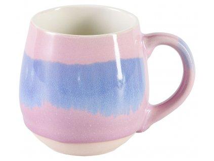 Gracie - Lou -  keramický hrnek 0,48 l, modrý, růžový
