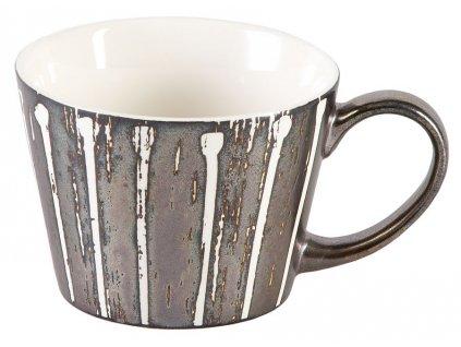 Thore - porcelánový hrnek 0,3 l, stříbrný