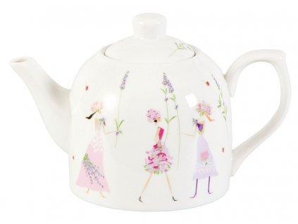 Flower Girls - porcelánová čajová konvička 0,6 l, motiv levandule