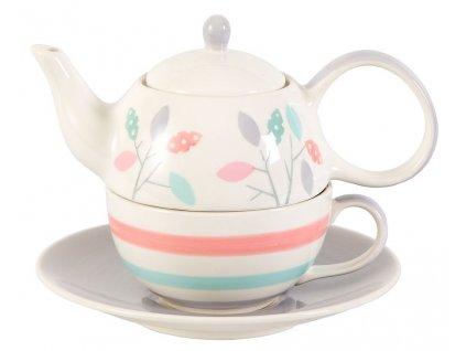 Dahlia - keramická čajová souprava 0,2 l/0,4 l, tea for one