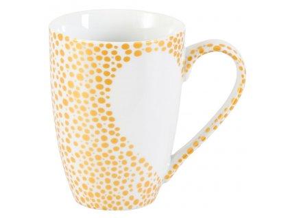 Vero - porcelánový hrnek 0,2 l, puntíkový, bílé srdce