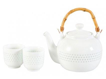 Guang -  porcelánová čajová souprava 0,15 l/1,2 l, bílá