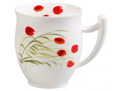 Caprice Vlčí mák  - fine bone china porcelánový hrnek 0,35 l