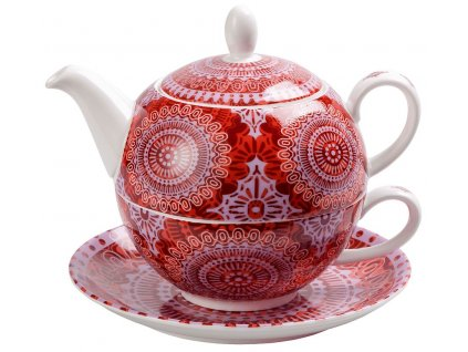 Sonji - Fine Bone China, Tea for one, čajová porcelánová souprava 0,25 l /0,5 l s mandaly