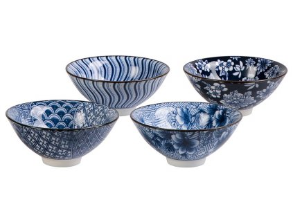 Sumi  - fine bone china sada 4 porcelánových šálků 0,06 l, modré