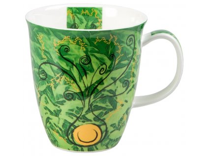 Four Elements Země - Fine Bone China porcelánový hrnek 0,38 l, zelený