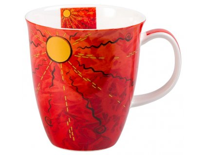 Four Elements Oheň - Fine Bone China porcelánový hrnek 0,38 l, červený