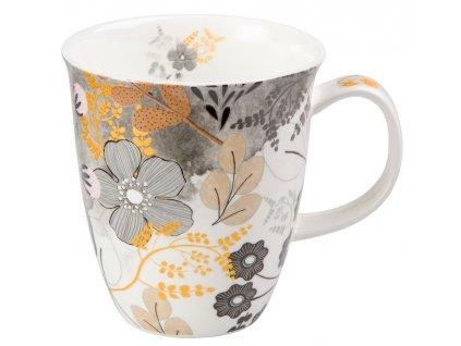 Astrid - Fine Bone China porcelánový hrnek 0,35 l, květiny