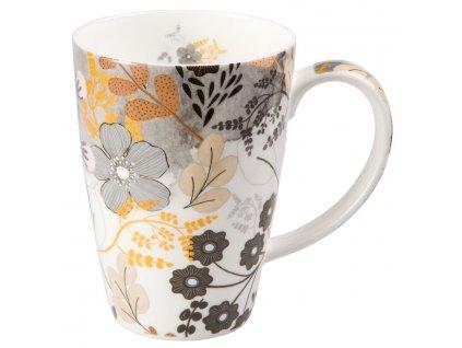 Astrid - Fine Bone China porcelánový hrnek 0,5 l, květiny
