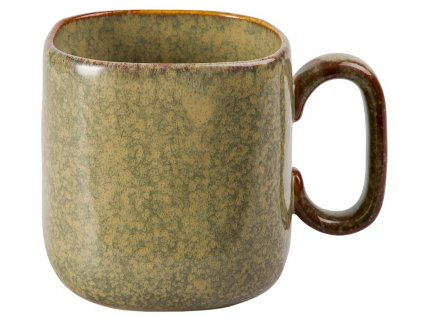Halvar - keramický hrnek 0,45 l, zelenohnědý
