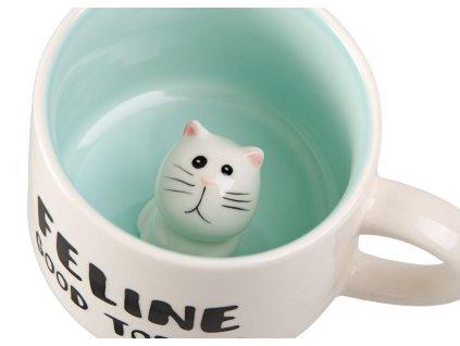 Joschi - keramický hrnek 0,3 l, bílý, kočka