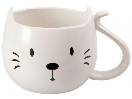 Trixi - keramický hrnek 0,3 l, bílý, kočka