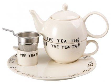 Navina - keramická čajová souprava 0,2 l/0,4 l, tea for one s nerezovým sítkem