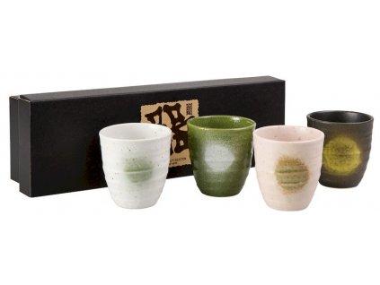 Akari - japonské porcelánové hrnky bez ouška, 4 ks, 0,18 l
