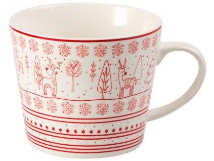 Julefest - Fine Bona China porcelánový hrnek 0,4 l, vánoční, zimní