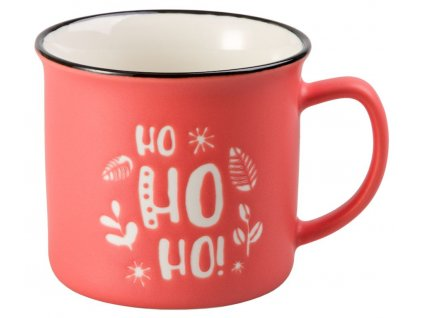Jolly Christmas - New Bona China porcelánový hrnek 0,3 l, Hohoho, vánoční,růžový