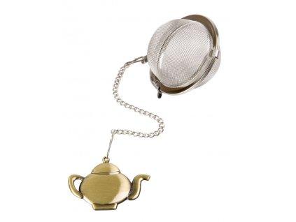 Čajové sítko s bronzovým přívěskem Čajová konvička ø 5 cm