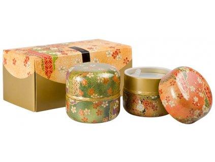 Ruri - sada plechových japonských dóz 2 x 100 g