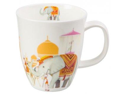 Mahal - Fine Bone China porcelánový hrnek 0,35 l, slon, Indie