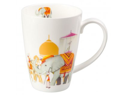Mahal - Fine Bone China porcelánový hrnek 0,5 l, slon, Indie