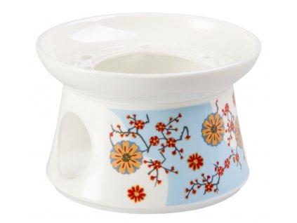 Ava - Fine Bone China porcelánový ohřívák na čajovou konvici, květiny