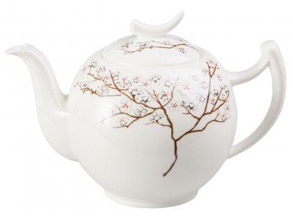 Bílá třešeň - Fine Bone China porcelánová čajová konvice 1 l