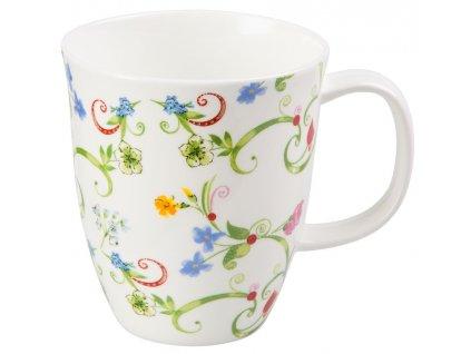Fleurette - Fine Bone China porcelánový hrnek 0,35 l, květiny