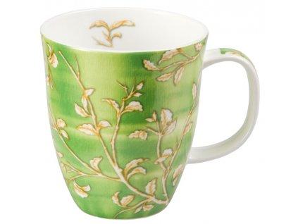 Yasmin - Fine Bone China porcelánový hrnek 0,35 l, zelený