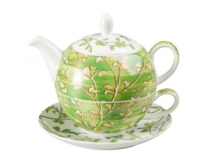 Yasmin - Tea for one, Fine Bone China, čajová porcelánová souprava 0,25l /0,5 l, zelená