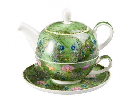 Rani - Tea for one, Fine Bone China, čajová porcelánová souprava 0,25l /0,5 l, slon
