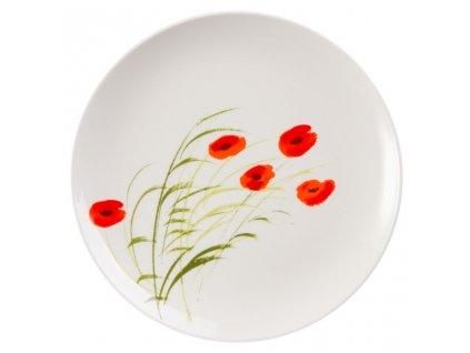 Caprice - Fine Bone China, porcelánový talíř ø 20,5 cm, vlčí mák